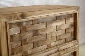 Cassettiera con rotelle. Guide in legno.