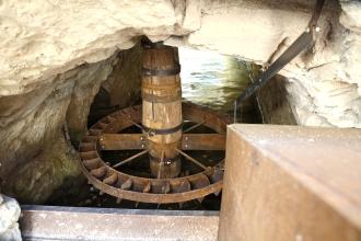 Albero del mulino ad acqua di Muccia.