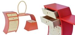 Toletta | Realizzata in legno di abete e Multiflex.