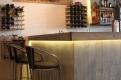 Bancone da bar, particolare: illuminazione a LED.
