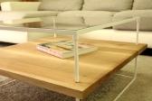 Progetto e realizzazione: Mastro T + Armoni. Tavolino basso.